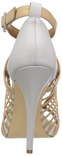 Calvin Klein Womens Naida Platform Sandalo Sndstrm / Vspr Gry