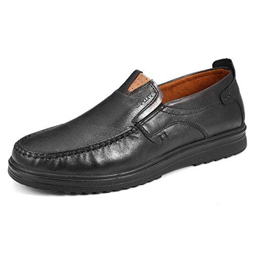 Vestir Bragas Se La Cuadrícula Las Hombres tamaño Gris De Marrón Zapatos Ponen Unión De Gracosy Tamaño Pequeño De Oscuro Loafter De Para Cuero Trabajo De Microfibras Mocasines qFvwnOET