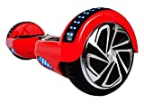 VEEKO Hoverboard Two-Wheel Self-Balancing Scooter-UL2272 Certified 6.5'' Tire Aluminum Alloy Wheels,350W Dual Motor for 9.6Km/hr Max Speed and 225lbs Max Weight (Red)