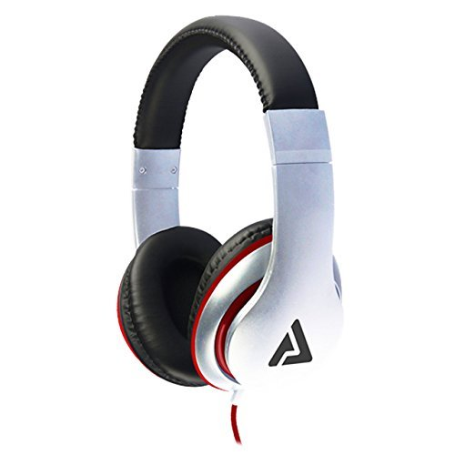 Audio Council Axis Stereo Over-Ear Headphones - DJ Style (White/Red)