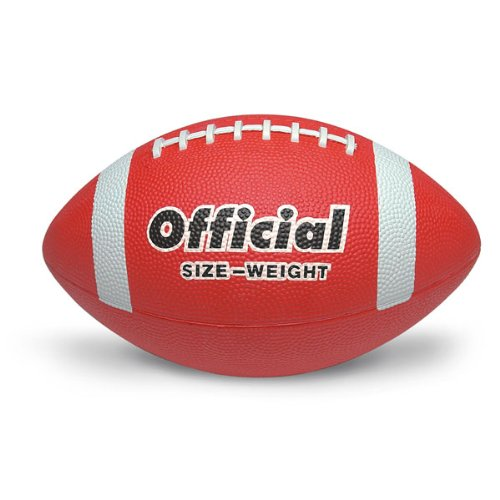MAC-T PE02701E Official Size 5 Durable Rubber Football Grades 11 Red Nasco