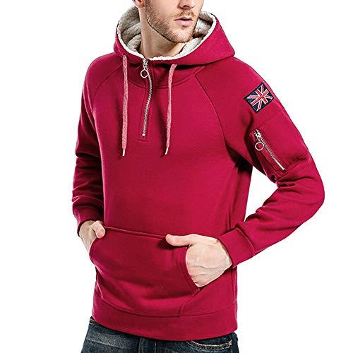 Tops Doux Capuche Cotton Hiver Rouge Automne Homme Blousons Aimee7 Chaud Sweats À Manteaux HRpUOxqPZw