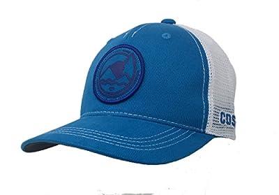 Costa Del Mar Mens Blue Ridge Patch Mesh Back Trucker Hat-Costa Blue