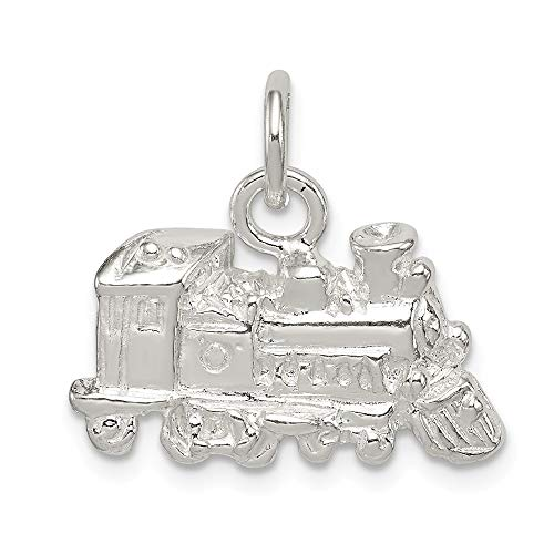 Sterling Silver Train Engine Charm (Silver Train Charm)