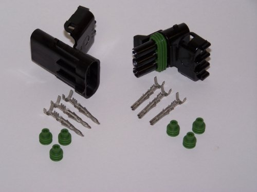 ACCEL DFI 74813 Weatherproof Electrical 3 Pin Connector