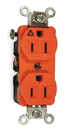 Hubbell Cr5252ig Duplex Receptacle Isolated Ground Commercial