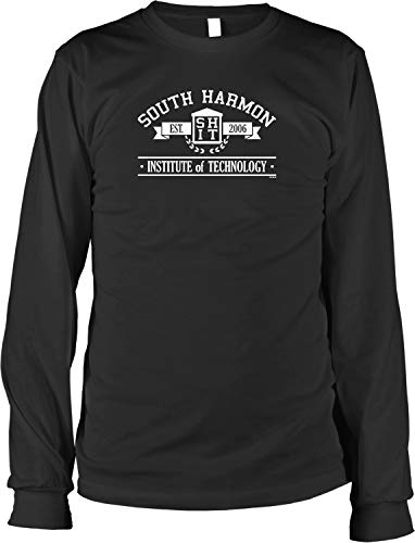 NOFO Clothing Co South Harmon Institute of Technology, Shit Men's Long Sleeve Shirt, L Black (South Harmon Institute Of Technology Acceptance Letter)