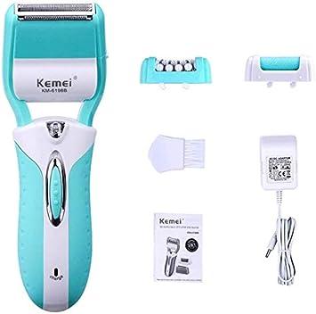 QXXNB SuRose 3 en 1 depiladora afeitadora depiladora depiladora Recortadora de Pelo afeitadora eléctrica removedor de Callos eléctricos para Dama Bikini Pierna Cuerpo ...