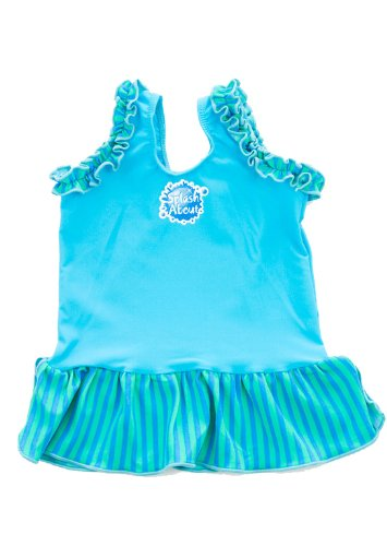 [Splash About Frou Frou costume top (swimming top), Turquoise, Small, 0-4months] (0-3 Month Swimming Costumes)