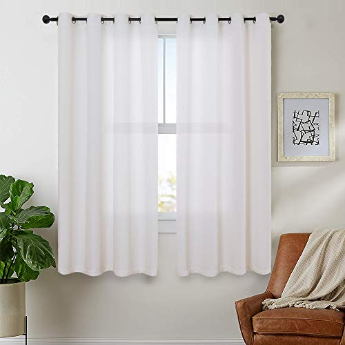 White Curtains Linen Textured fo...