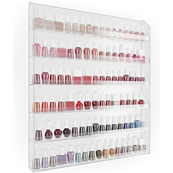 Amazon Com 96 Bottle Nail Polish Wall Rack Display Beauty