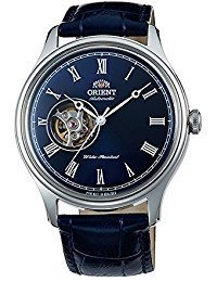 ORIENT Classic Automatic with Hand Winding Open Heart Dome Crystal Roman Blue ()