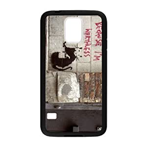 Banksy Think Tank Cell Phone Protector for Cell Phone Protector for Samsung Galaxy S5 Plastic and TPU (Laser Technology)