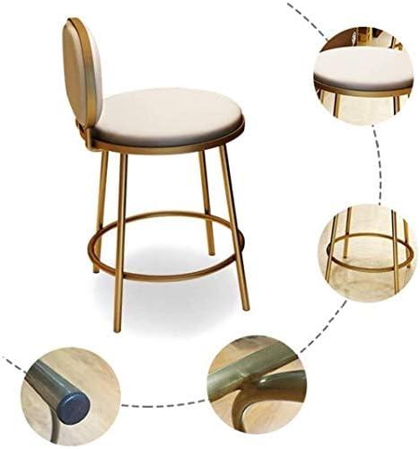 スツール バーチェアバーのスツールアイアンアートバースツール - 背もたれ椅子ハイスツール、アームチェア、クッションで、ソリッドウッドチェア、テーブルチェア/ゴールド/ 30「」の高付