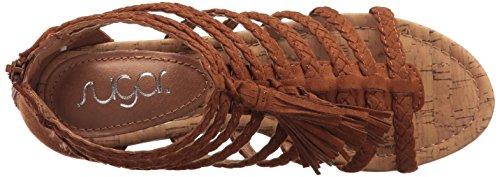 Jungles Micro Sandal Wedge Women's Solid Sugar Cognac 5xqzOCCw