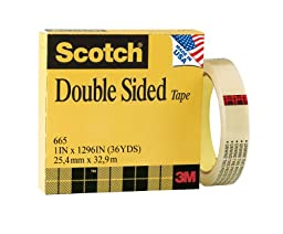 Scotch Double Sided Tape, 1 x 1296 Inches, Boxed (665)
