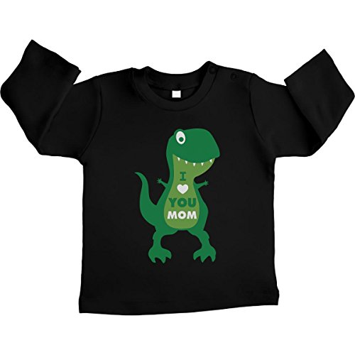 rex Nero Manica Maglietta Lunga T Dinosauro Unisex Love I Idea Neonato Mom You Regalo 1TOpwqxnvt