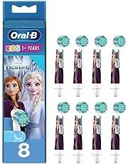 Oral-B Kids Opsteekborstels voor elektrische tandenborstel, 8 stuks, voor kinderen vanaf 3 jaar, extra zachte borstelharen, Frozen, brievenbus geschikte verpakking