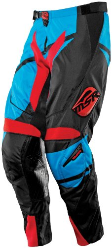 MSR Racing Renegade Men's Dirt Bike Motorcycle Pants - Black/Cyan/Red / Size (Msr Mens Dirt Motorcycle)