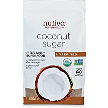 Nutiva USDA Certified Organic, non-GMO, Unrefined Granulated Coconut Sugar, 1-Pound