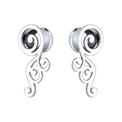 2G-5/8'' Stainless Steel Double Flared Screw Ear Gauges Wings Ear Tunnels Ear Plugs Expanders Body Piercing Jewelry (9/16