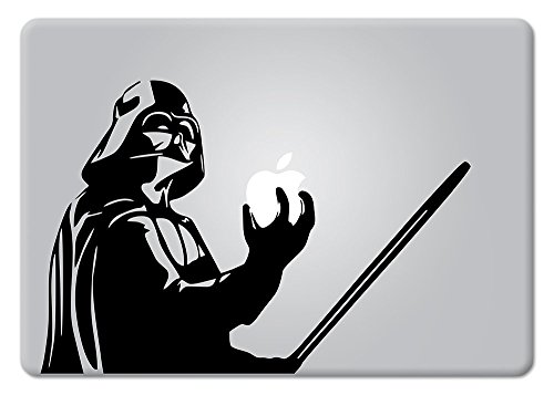 Darth Vader Holding Macbook Laptop