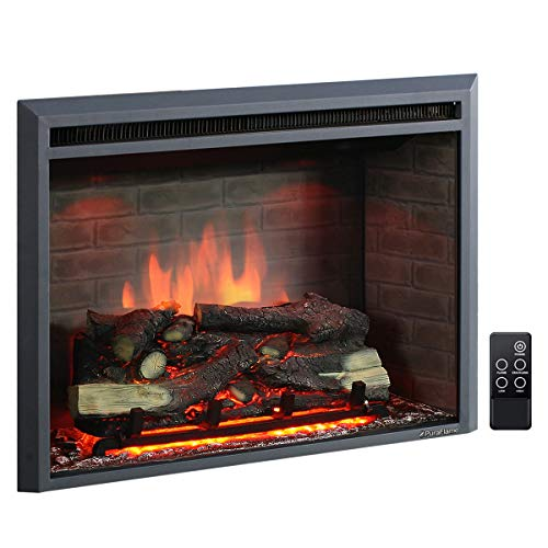 PuraFlame 30 Inches Western Electric Fireplace Insert with Remote Control