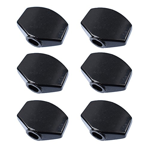 6Pcs Metal Small Square Shape Guitar Tuning Peg Tuners Machine Head Replacemen Buttons knob Handle (Tuning Machine Button)