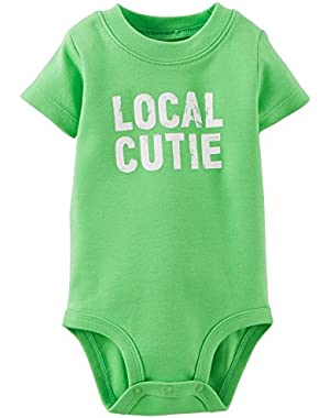 Carters Baby Boys Local Cutie Bodysuit 24 Month Green
