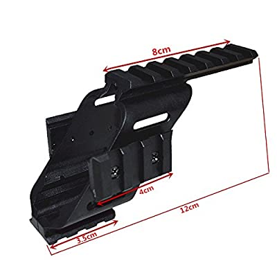 "HWZ 2017 New Arrival Universal Tactical Pistol Scope Sight Polymer Light Weight Mount With 7/8"" Weaver & Picatinny Glock 17 5.56 For s&w/1911/Glocks/Walther p22/HKp30/SD9VE 9mm"