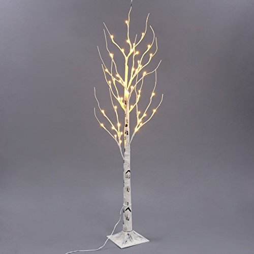 silver warm white xmas led birch twig lighted branches tree for home bedroom patio garden gate yard party wedding christmas inside outdoor decoration