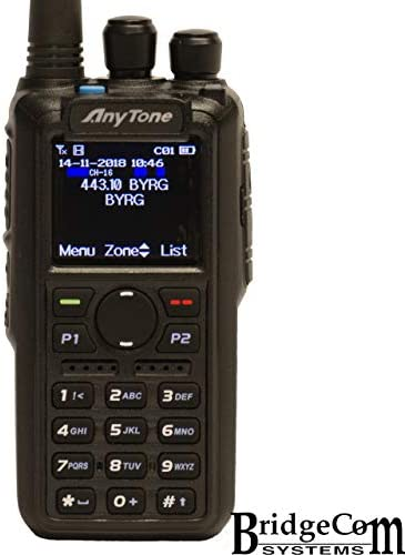 AnyTone AT-D878UV W GPS Free Course, Programming Cable, Support, and 2 Stickers. 3100mAh Battery, Latest Firmware, Dual Band DMR Analog.