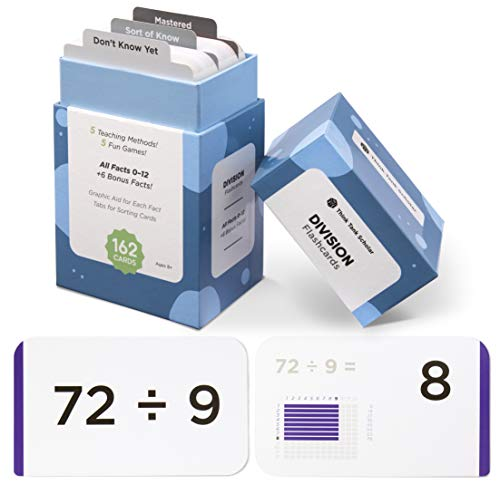 62 Division Flash Cards | All Facts 0-12 Color Coded | Best for Kids in 3rd, 4th 5th & 6th Grade ()