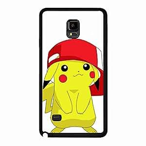 Pocket Monster Pokemon Pikachu Back Hard Rubber Cover,Pikachu Phone funda for Samsung Galaxy Note 4,Protective Samsung Galaxy Note 4 funda