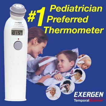 Exergen Temporal Artery Thermometer with Silver Ion Antimicrobial Head Personal Healthcare / Health Care