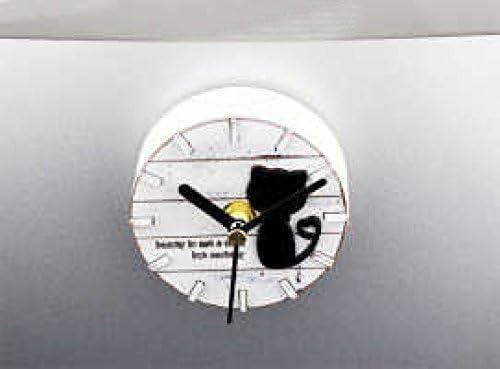Kühlschrank Uhr Magnetisch : Chlww kreativ retro persönlichkeit einfach spaß niedlich kätzchen