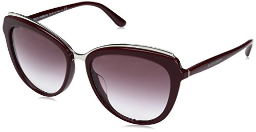 Dolce-Gabbana-Womens-Acetate-Woman-Cateye-Sunglasses-Bordeaux-570-mm
