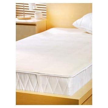 SETEX Prot/ège-matelas molletonn/é 100 /% Coton Basic 1607 090190 001 001 90 x 190 cm Naturel blanc cass/é Elastique