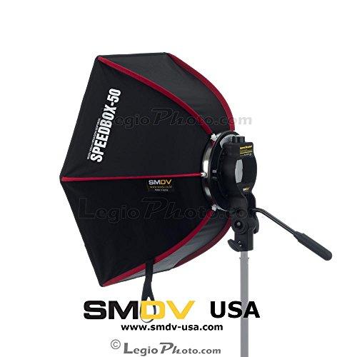 SMDV Diffuser SPEEDBOX-S50 - Professional 21 Inch (50cm) Rigid Quick Folding Hexagonal Softbox for Speedlite or Speedlight Flash - Legio Aerium Limited Edition by SMDV