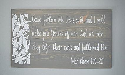 Amazon Com Onepicebest Christian Wood Sign Bible Verse Wall Art