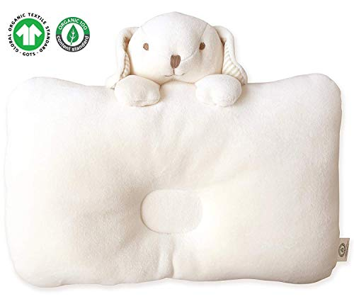 Organic Cotton Baby Protective Pillow (Peekaboo Puppy)