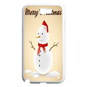 Custom Colorful Case for Samsung Galaxy Note 2 N7100, Christmas Snowman Cover Case - HL-707736