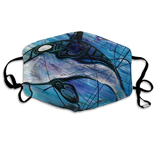 Graffiti Street Rrt Killer Whales Printed Mouth Masks Unisex Anti-dust Masks Reusable Face Mask