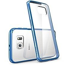 Galaxy S6 Edge Case, [Scratch Resistant] i-Blason **Clear** [Halo Series] Samsung Galaxy S6 Edge Hybrid Bumper Case Cover (Clear/Blue)