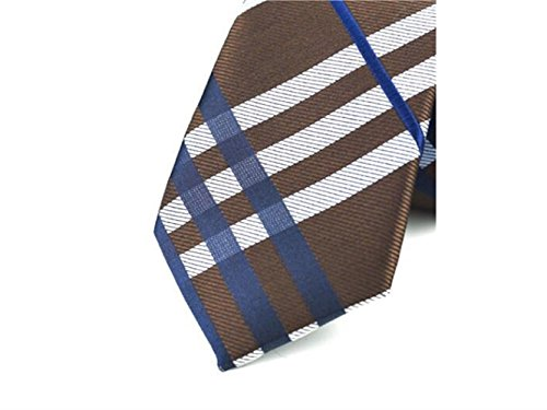 Lattice for Fashionable Occasion Kxrzu Necktie Coffee Casual Formal and Wedding Men's Comfortable Party qXtXwTB