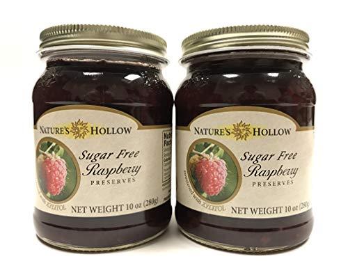 Nature's Hollow Sugar Free Raspberry Preserves 10oz | 2 Packs ()