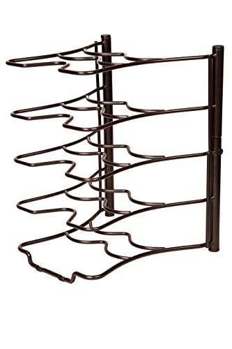 Bronze Kitchen Storage Solutions Cabinet Pan Rack