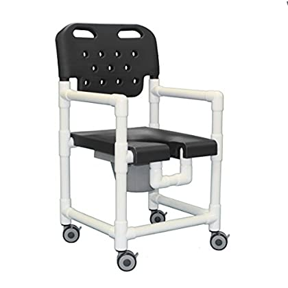 Image of Bath & Shower Aids Innovative Products Unlimited ELT817 P G Elite Shower Commode Chair, 21 lb