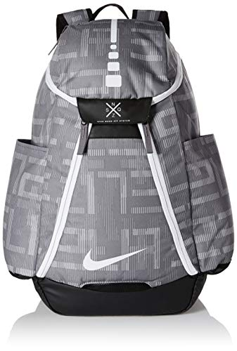 Nike Hoops Elite Max Air Basketball Backpack Gunsmoke/Black/White (Nike Hoops Elite Max Air Team 2-0 Inside)