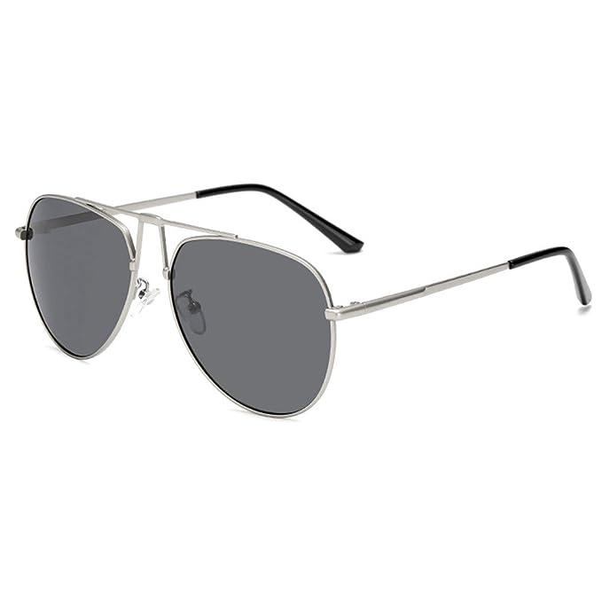 WELUK - Gafas de sol - para hombre Plateado Sliver & Black 2 ...